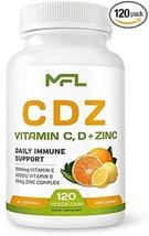 MFL Vitamin C 1000mg   Vitamin D3, 125mcg   Zinc, 25mg   Non-GMO & Gluten Free  - $31.50