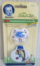 RARE Gerber Little Suzy's Zoo Orthodontic Pacifier And Retainer Size 2 S... - $34.65