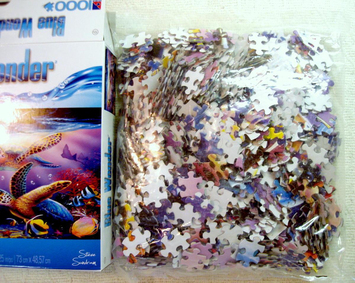 Turtle Family 1000 Piece Jigsaw Puzzle Steve Sundram Blue Wonder Ocean Life New
