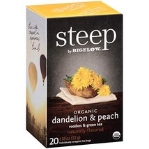 Steep by Bigelow Organic Dandelion and Peach with Rooibos and Green Tea ... - $21.32