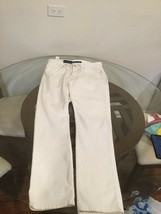 NWT Men's PERRY ELLIS Slim Fit Stretch Low Rise White Cotton Jean Pants ... - $49.49