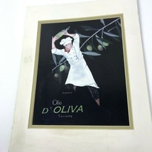"T Doughty Lithograph Print Olio D' Oliva Tuscany Chef Matted 11"" x 14"" Vtg - $19.79"