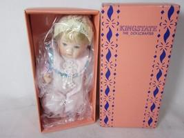 """Vintage Kingstate The DollCrafter Porcelain 5.5"""" Baby Pink Pajamas - $9.89"""