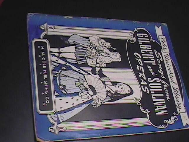 Sheet music song book songs from gilbert and sullivan operas mm cole publishing 64 pages 01