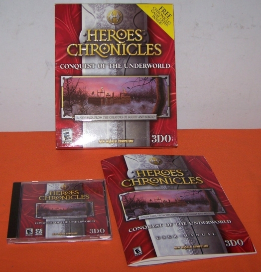 Vintage PC Game Heroes Chronicals Boxed W 95-98