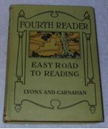 Easy Road to Reading Children's Antique School Fourth Reader 1918 - $9.95