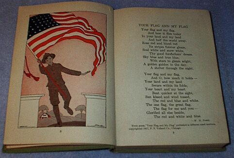 Easy Road to Reading Children's Antique School Fourth Reader 1918