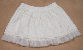 CHEROKEE GIRLS SIZE XS 4 5 SKIRT WHITE LACE TULLE BEACH PORTRAIT SPRING ... - $12.61
