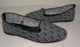 Skechers Size 8 M CLEO HUNTINGTON Black White Skimmer Flats New Womens S... - $88.11