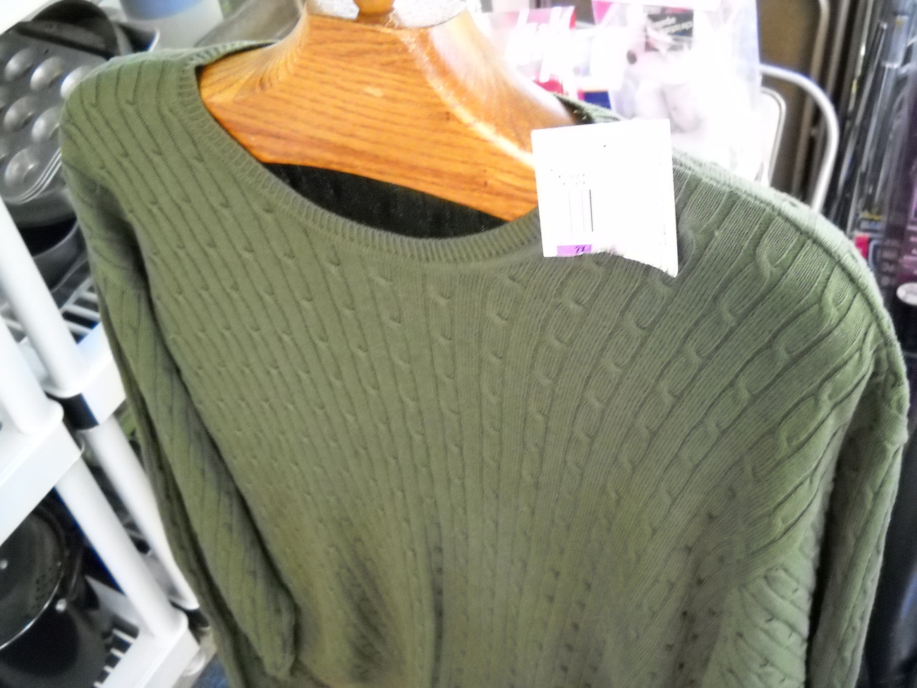 Sweater izod cotton cable green xxl new with tag 04