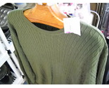 Sweater izod cotton cable green xxl new with tag 04 thumb155 crop
