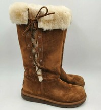 UGG Australia Upside Sheepskin Leather Boots Size 6 S/N 5163 Brown - $79.15
