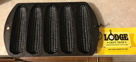 Lodge L527C3 Cast Iron Cornstick Pan, Pre-Seasoned, 5-stick NWT - $27.10