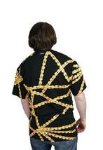 Official Herren Schwarz Gold Radfahren Chain Gang T-Shirt BMX Fahrrad Nwt image 2