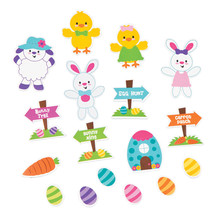 300 Easter BUNNY RABBIT EGG HUNT Self-Adhesive Shapes CRAFTS PARTY FAVOR... - $9.95