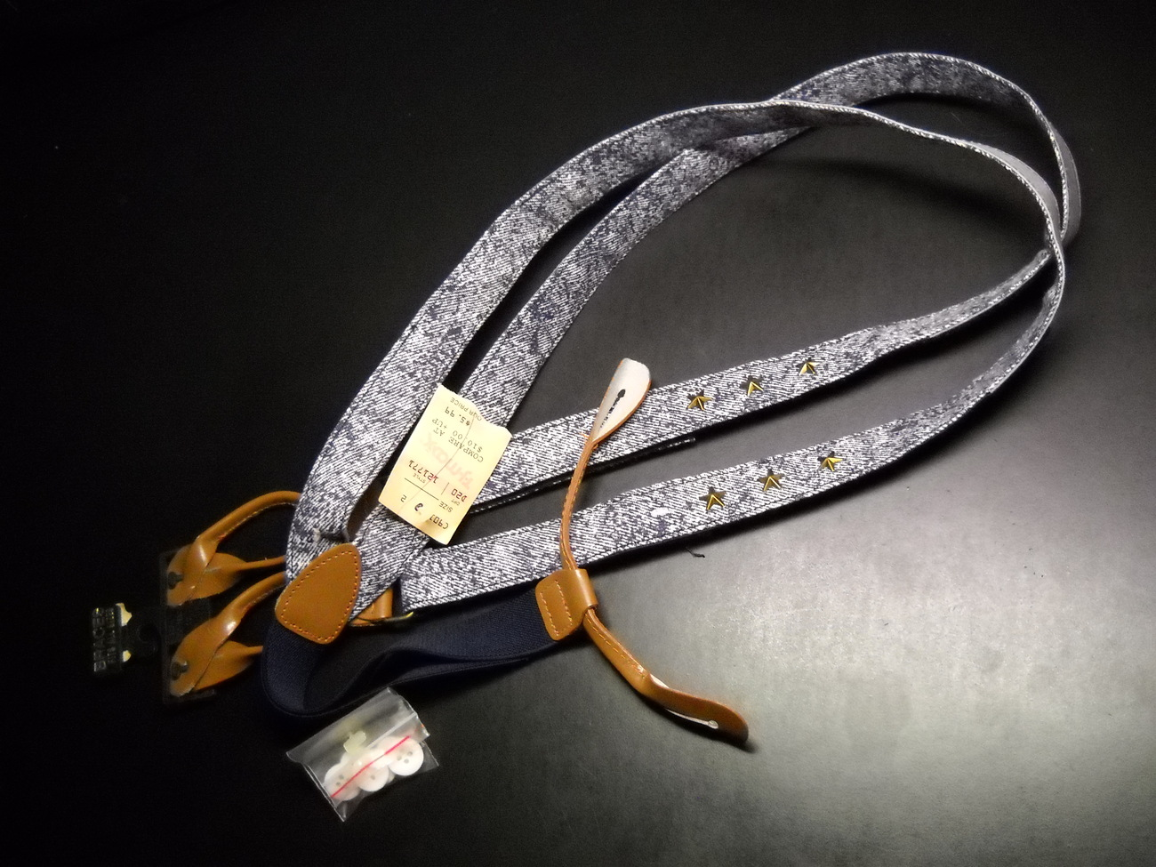 Suspenders denim with velcro new with original tags 11