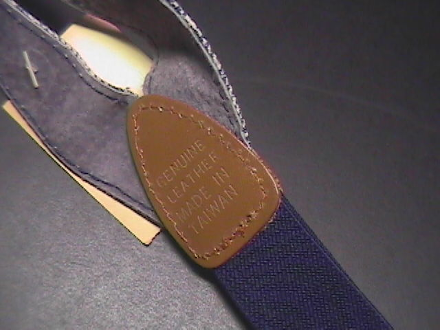 Suspenders Washed Denim Look Velcro Adjustments Gold Stars Unused with Paper Tag