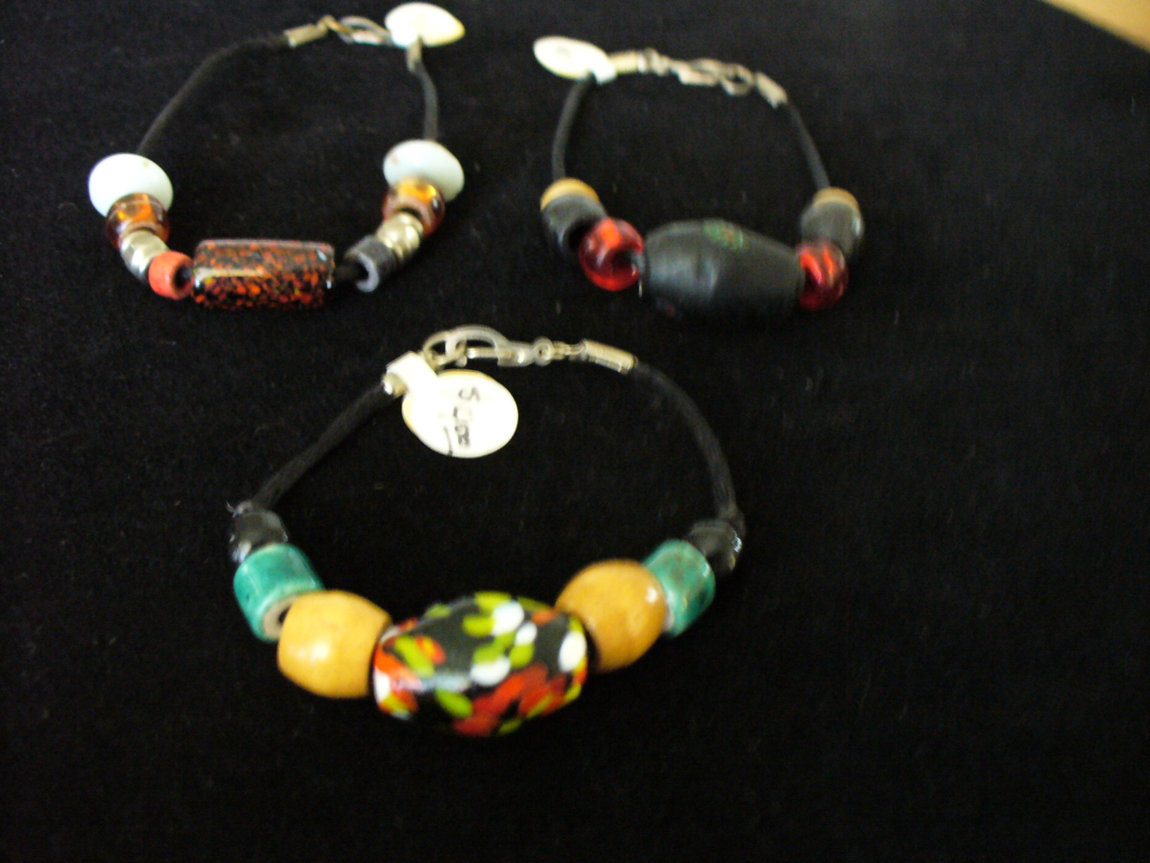 Shanrocks Beads on Satin Bracelet
