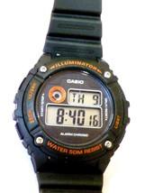 Casio Men's Quartz Illuminator Alarm Chrono Black Resin 43mm Watch W216H - £14.35 GBP
