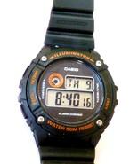 Casio Men's Quartz Illuminator Alarm Chrono Black Resin 43mm Watch W216H - $19.80