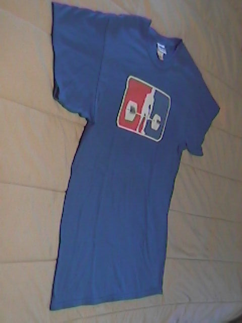 T Shirt Gildan Ultra Cotton Weight Lifter Large with Blue Background