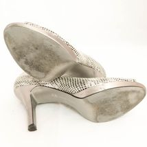 Heels Leather Pumps Open Anne 7 Silver Klein Platform 5M Snakeskin Maefraimm Toe PwfxqEa40x