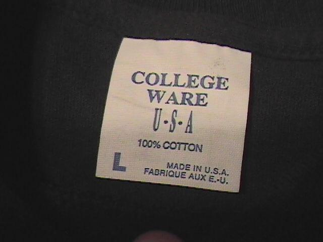 T Shirt College Wear Betty Boop Sweating thru Aerobics Black Background Large SS