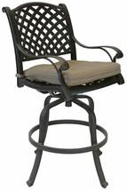 Nassau bar stools Set of 8 swivel outdoor patio furniture cast aluminum. image 2
