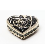 CELTIC HEART JEWELRY BOX PEWTER AUSTRIAN CRYSTALS - $27.71