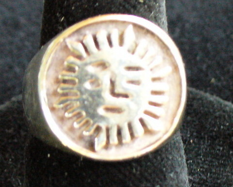 Sun Sterling Silver Ring