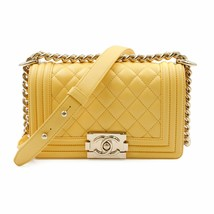 Chanel Yellow Quilted Lambskin Small Boy Flap Bag Womens Bag A67085Y25569 - $6,623.57 CAD