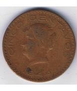 Mexico 1944 Cinco Centavos Circulated Coin - €0,80 EUR