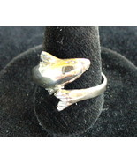 Wrap around Dolphin Sterling Silver  Ring - $14.00