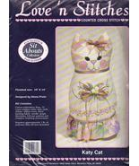 Love n' Stitches Cross Stitch Kit Sit Abouts Katy Kat Diana  - $14.99
