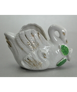 Nippon Yoko Boeki Co Small White Ceramic Swan - $7.75