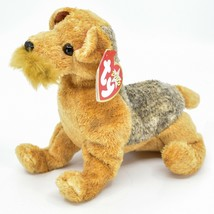2000 Ty Beanie Baby Whiskers the Schnauzer Terrier Puppy Dog Beanbag Plush Toy