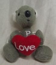 PEZ LITTLE KOALA BEAR W/ HEART MINI Plush STUFFED ANIMAL PEZ DISPENSER - $15.35