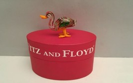 Fitz and Floyd Glass Duck Menagerie Figurine Ashley New in the Box Limited  - $18.80
