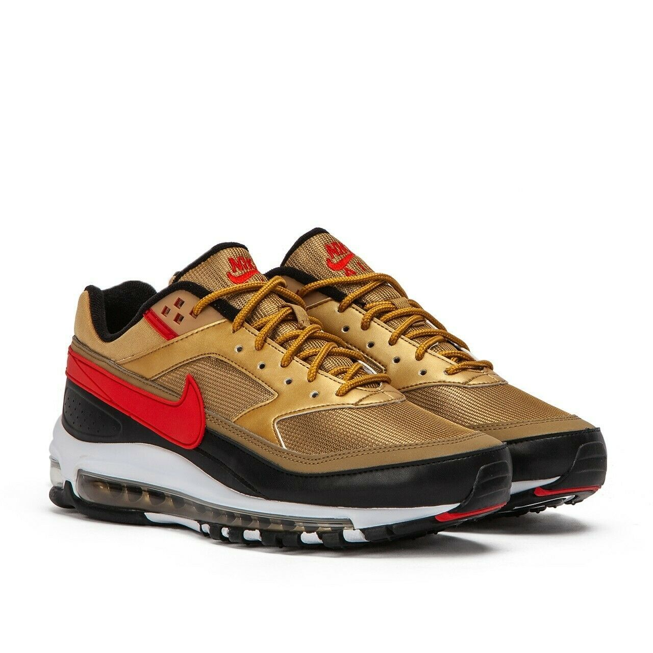 Nike Air Max 97 BW Metallic Gold Red Trainers