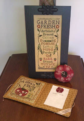 Fresh From The Garden Pincushion & Needlebook prefinished Impie Hattie & Bea