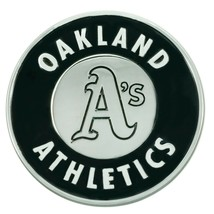 Fanmats MLB Oakland Athletics Diecast 3D Chrome Emblem Car Truck RV 2-4 Day Del. - $14.84