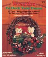 Suzy Ware Wreaths to Deck Your Doors Instructions Christmas Holiday Deco... - $3.99