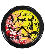 Cats Custom Black Wall Clock - $19.95