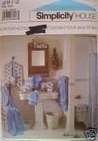 New 1980s Bath Accessories Bags Robe Slippers Simplicity 8973 Sewing Pattern Simplicity