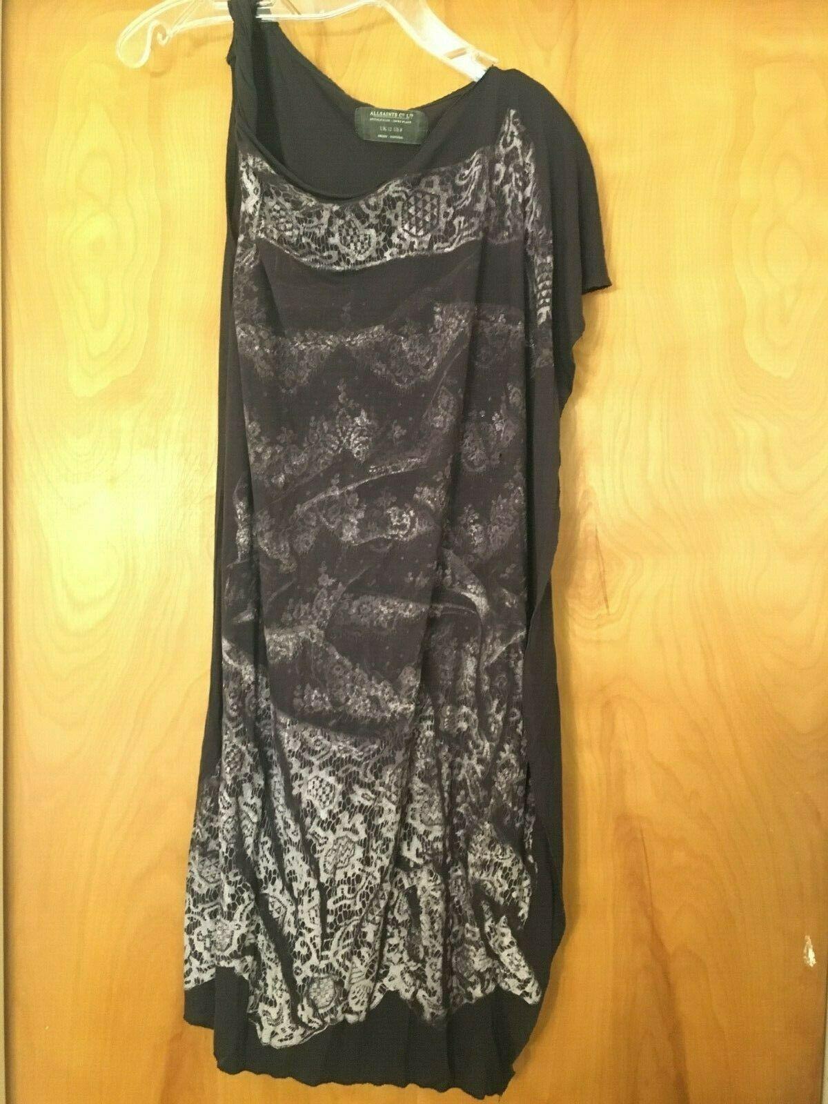 AllSaints Asymmetrical T-shirt Dress Size 8 image 7