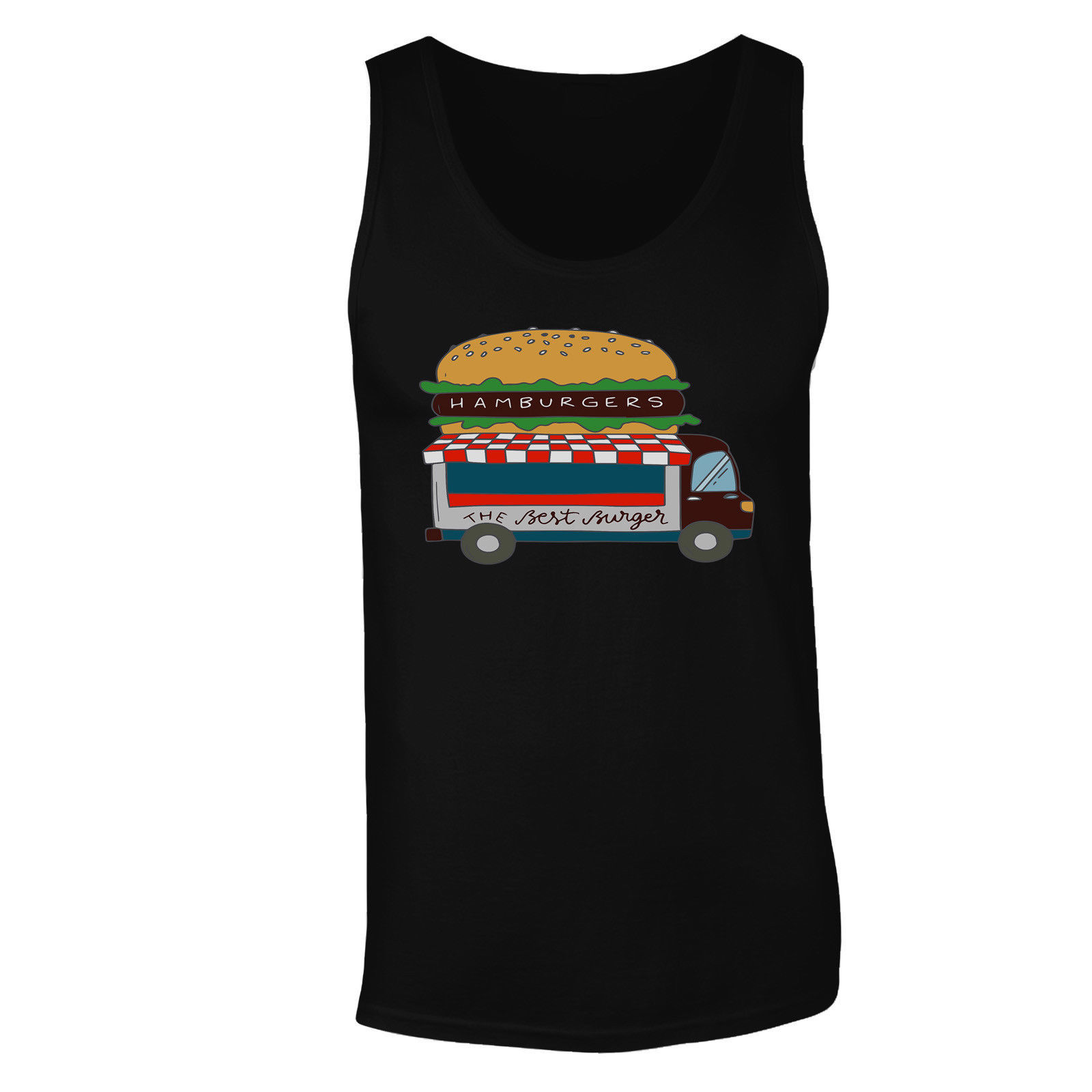 Hamburger Van Vintage Men's T-Shirt/Tank Top p403m