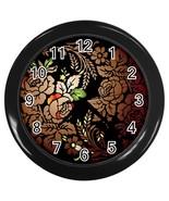 Folk Art Custom Black Wall Clock - $19.95