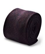 Frederick Thomas blu navy e a Quadri Arancioni lana tweed Uomo Cravatta ... - $21.98