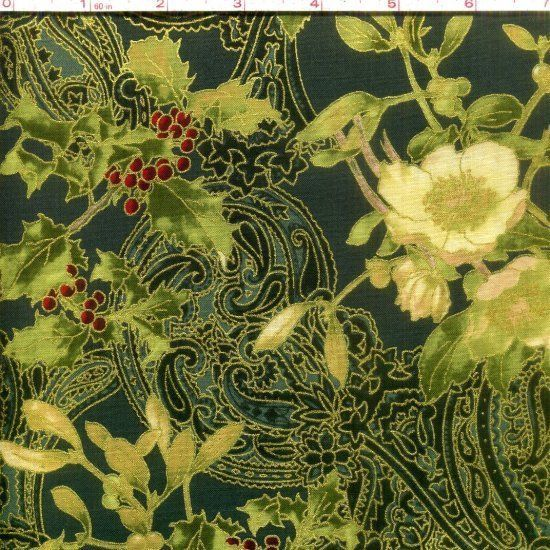 Madeline Hunter/Gold Hoffman Fabrics 100% cotton fabric by the yard