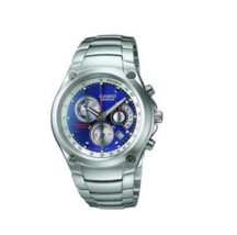 Casio Analog Blue Color Dial Chronograph Metal Round Men's Watch EF-507D... - $99.00